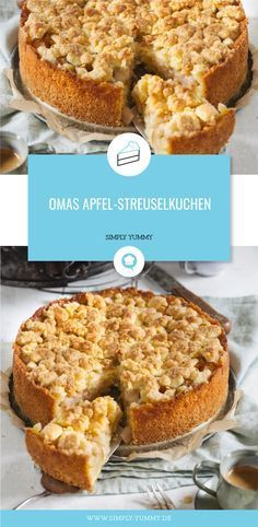 Grandma's apple crumble cake