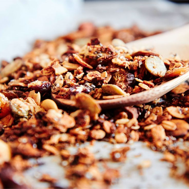 Healthy Granola! I love having this in the mornings for breakfast!