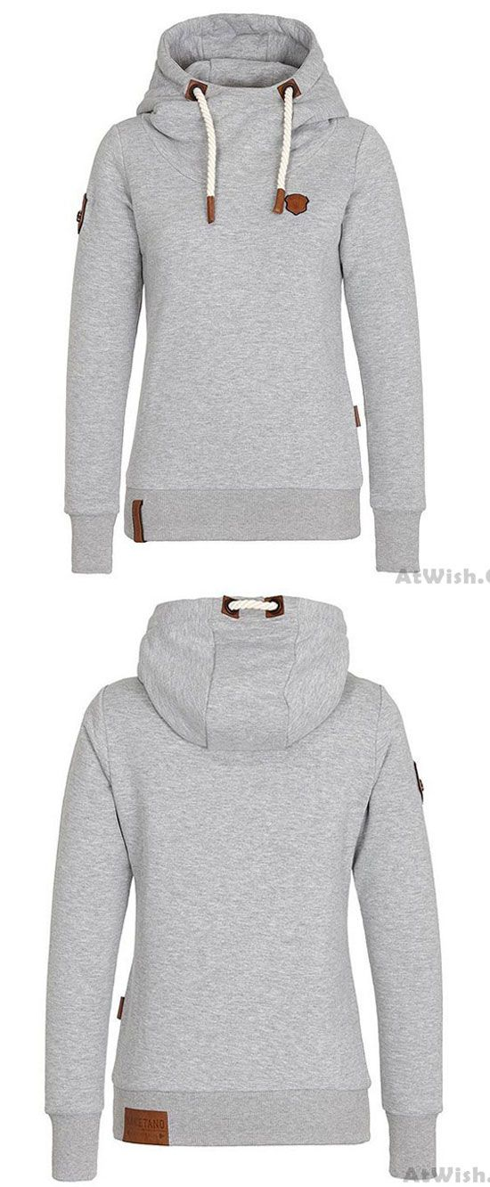 95f33cae4e1 Simple Fall Winter Hoodie Outfit Girls Sport Cashmere Top Pure Color Women  Sweater  sweater  women  winter