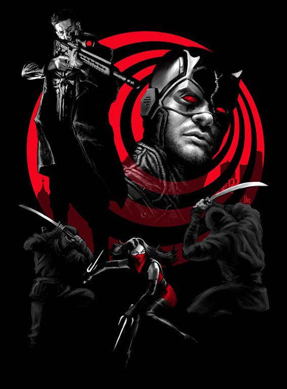 Devil In The Line Of Fire by hugohugo Daredevil, Punisher, Elektra, Netflix