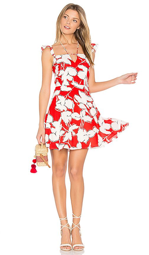 Shop for J.O.A. Flower Print Dress With Ruffle Shoulder in Red Multi at REVOLVE. Free 2-3 day shipping and returns, 30 day price match guarantee.
