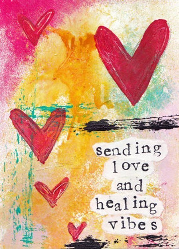 Sending Love And Healing Vibes 5 X7 Blank Greeting Card With