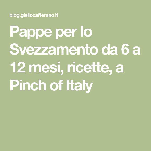 Pappe per lo Svezzamento da 6 a 12 mesi, ricette, a Pinch of Italy