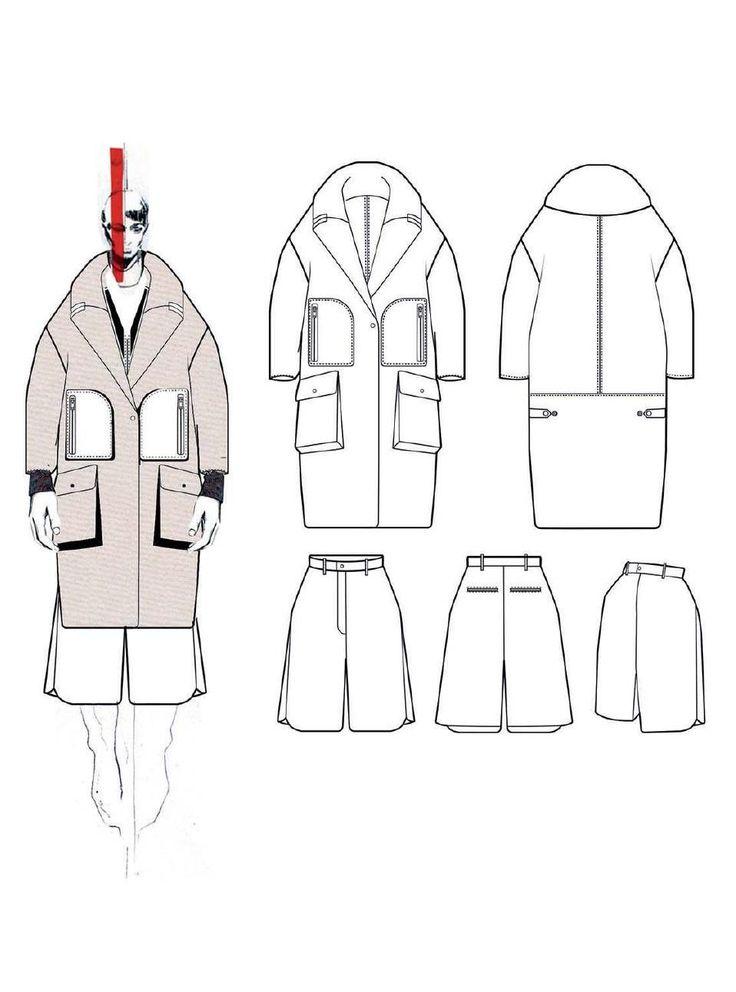 Fashion Sketchbook - fashion illustration; technical fashion drawings; fashion portfolio // Andrew Voss