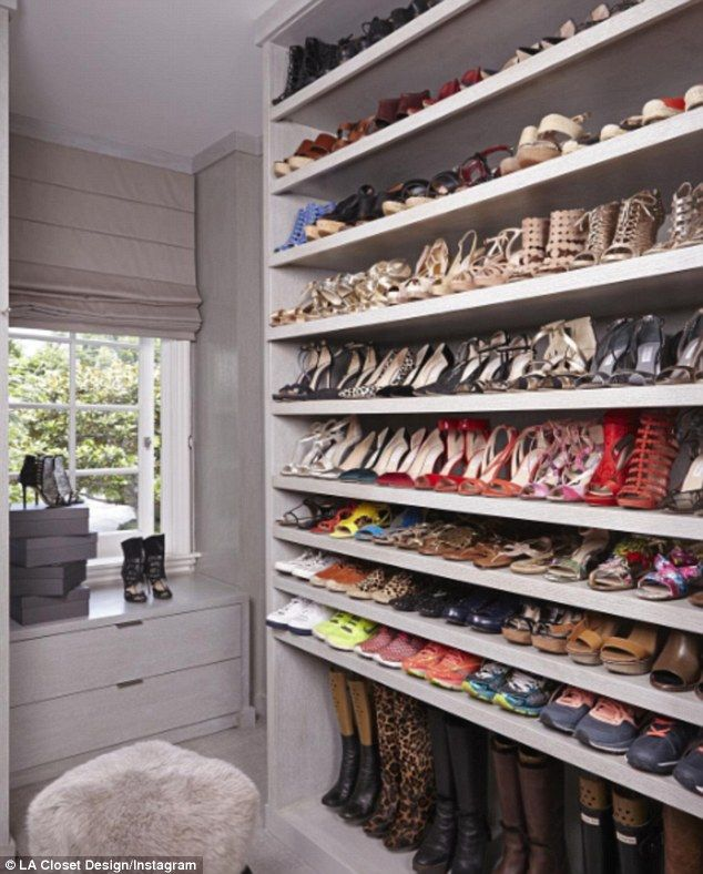 Perfect: Using hashtags like #WardrobePorn, the domesticated bloggers have shown off their sparkling closets complete with colour-coded clothing racks