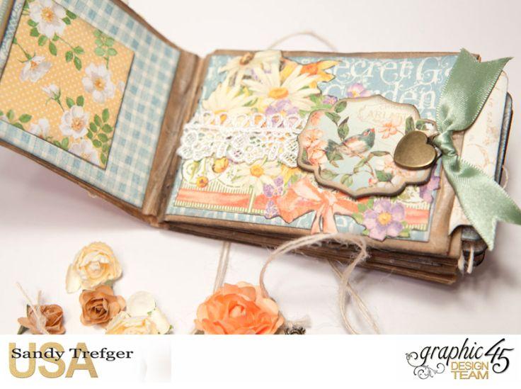 Paper Bag Mini Album Secret Garden Tutorial by Sandy ...
