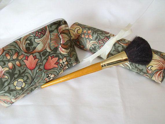 make up brush holder cosmetic bag make up by FingerPrickingGood