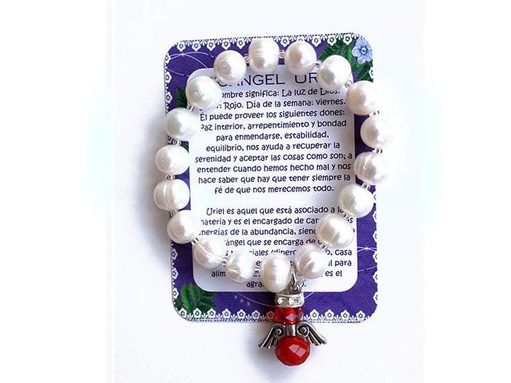 Pulsera Arcangel Uriel perla grande Ref. 229