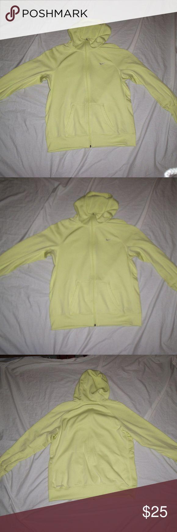 Nike Therma Fit Pastel Yellow Zip up Hoodie ECU What an amazing color Nike Tops Sweatshirts & Hoodies