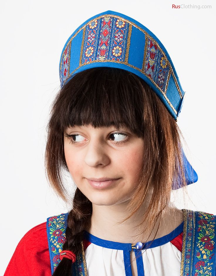 Russian headdress - Kokoshnik Dunasha with ribbons | RusClothing.com