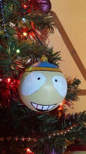eric cartman painted ornaments