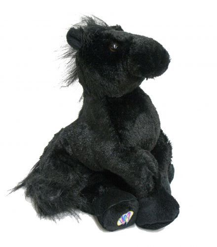 "Webkinz ® Black horse plush. 8.5"" tall. Discover a virtual world with your plush horse, with the secret code you can play with your new plush online!"