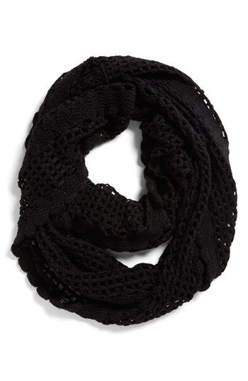 Free shipping and returns on Tildon Crocheted Infinity Scarf at Nordstrom.com. Lacy crochet lends country sweetness to a charmingly cozy infinity scarf.