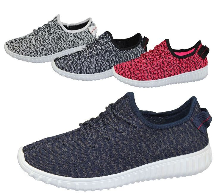 Womens Lace Up Yeezy Trainer Comfort Sports Casual Fashion Inspire Walking Shoes