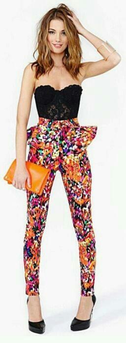 #Peplum pants