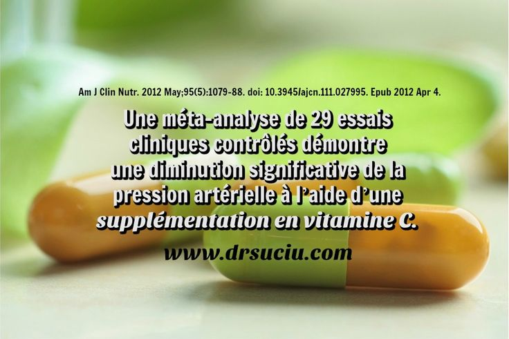 Photo drsuciu Vitamine C: diminuer la pression et l'hypertension