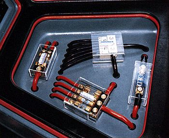 car audio power distribution blocks and in-line fuses