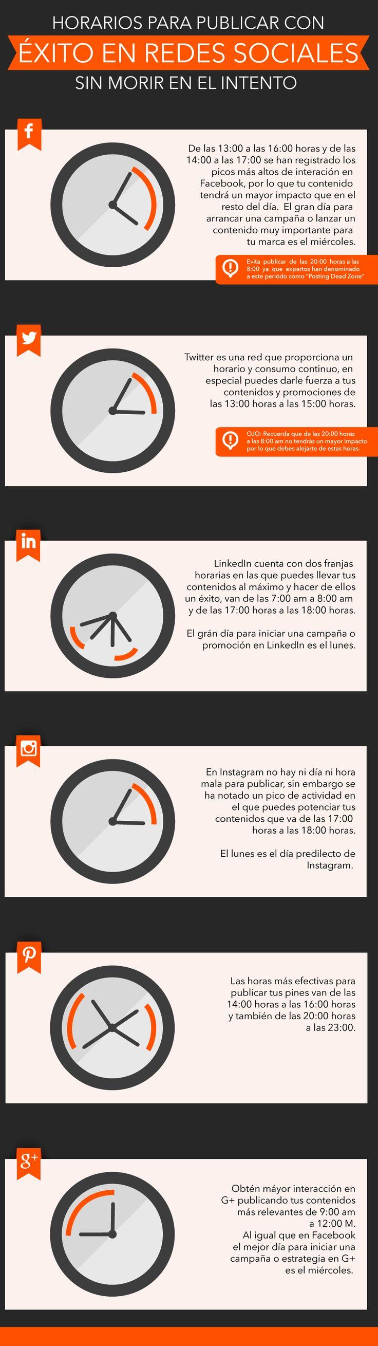 Horarios para publicar con éxito en redes sociales   Mundo Ejecutivo