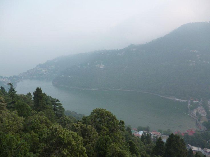 View of Naini Lake from hill top