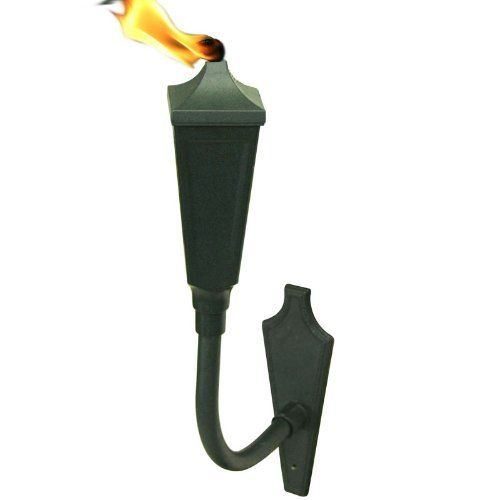 "Festive Wall Sconce Tiki Light, Set of Two - Emerald Green by Legends Tiki Lifestyle. $59.98. Torch Head Size: 3-1/4"" w x 10-1/2"" h Total Height: 22"" from flange Wick Size: 1/2"" Fuel Capacity: 16 Ounces. Save 25% Off!"