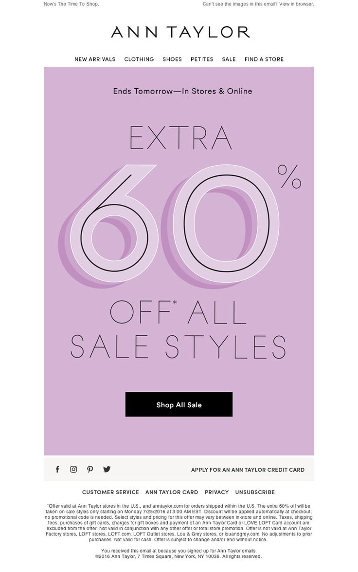 Ann Taylor - Extra 60% OFF (Really.)