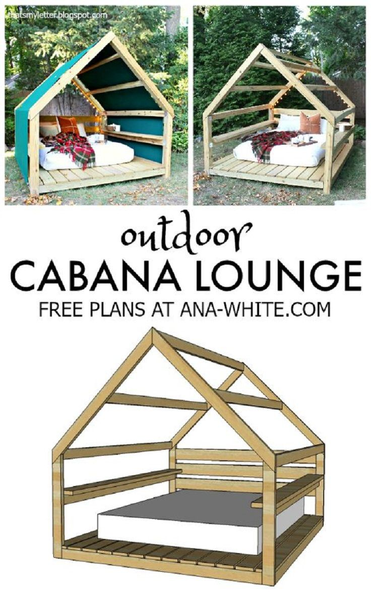 Cool DIY Outdoor Cabana Lounge Plan - 14 Awesome DIY Backyard Ideas to Finalize Your Outdoors Look on a Budget