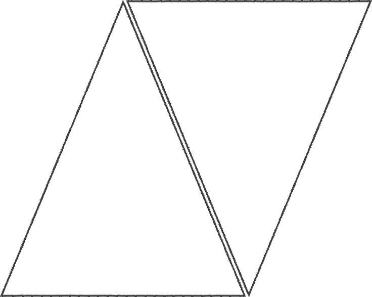 Triangle template for banner | Printables | Pinterest