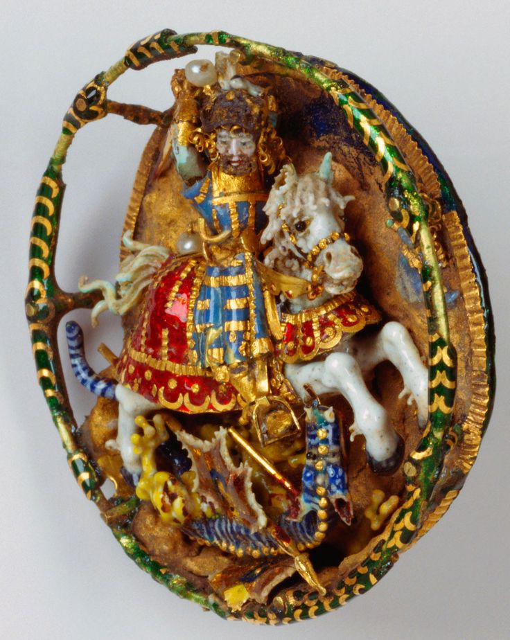 Hat badge with St. George and the dragon | Royal Collection Trust. 1520. Acquirer: Henry VIII, King of England (1491-1547).English History, Renaissance Jewelry, Henry Viii, Hats Badges, Collection Trust, Elizabeth Ii, Queens Elizabeth, Royal Collection, Renaissance Jewellery