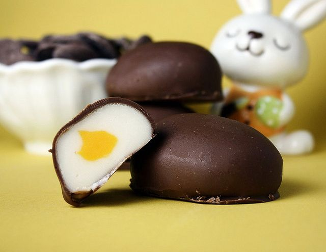 Homemade cadbury eggs.