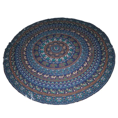 This is blue color online indian #Mandala  Tapestry at handicrunch
