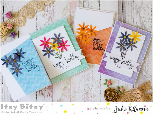 Itsy Bitsy - The Blog place: Set of CAS cards with Fairy Flower Thin Cut Dies