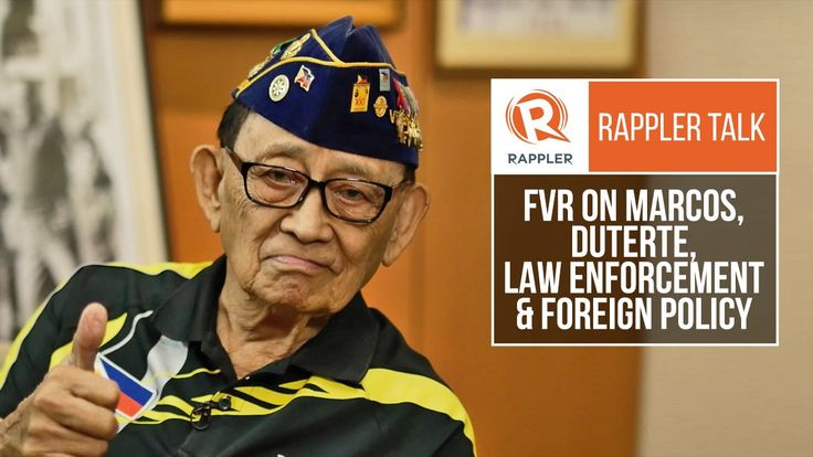 Rappler Talk: FVR on Marcos, Duterte, law enforcement and foreign policy - WATCH VIDEO HERE -> http://dutertenewstoday.com/rappler-talk-fvr-on-marcos-duterte-law-enforcement-and-foreign-policy/   Fidel V Ramos, former Philippine president, shares his thoughts on recent events – from the Marcos burial to the Duterte administration's foreign policy Follow Rappler on Social Media: Facebook – Twitter – Instagram – YouTube – SoundCloud – Goog