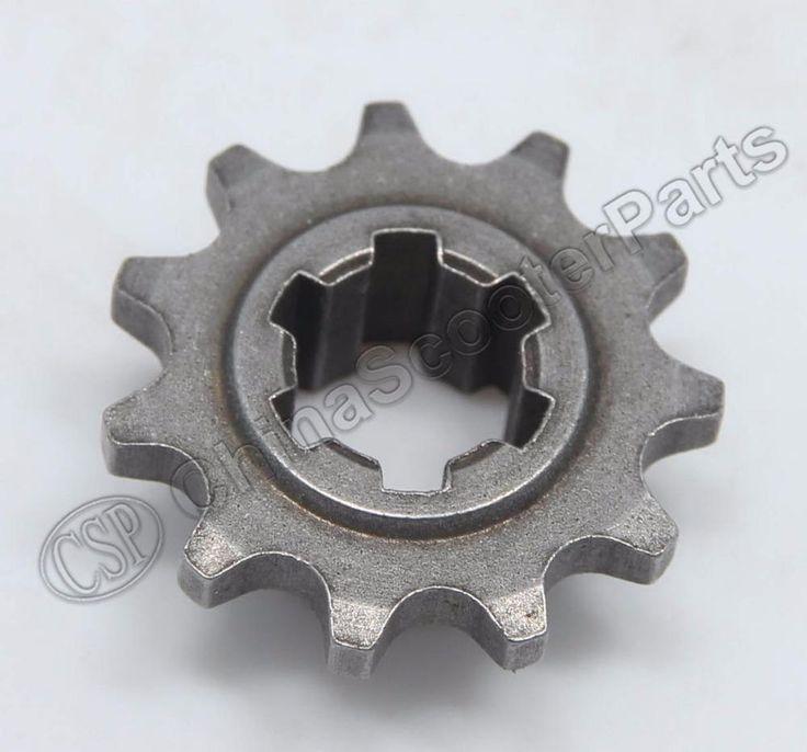 T8F 11T front pinion sprocket 11 tooth of clutch gear box for 2 stroke 47cc 49cc mini moto pocket atv dirt bike Crosser Minimoto