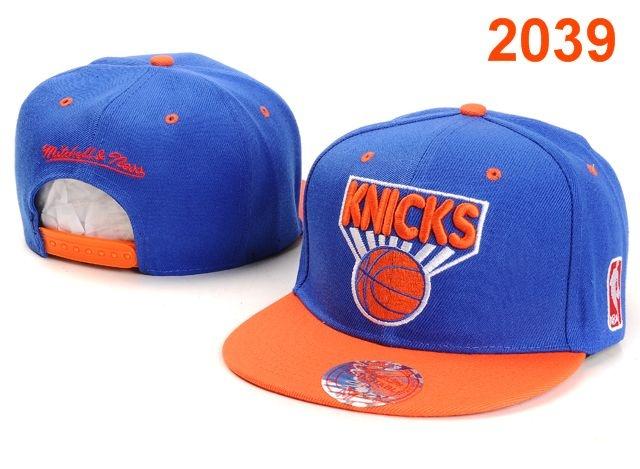 NBA New York Knicks Snapback Hat Blue Orange $8.99