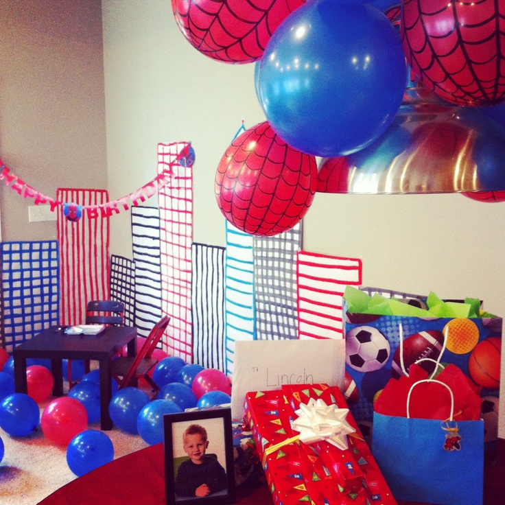 this gives me an idea...red balloons and just use black sharpe to make webs