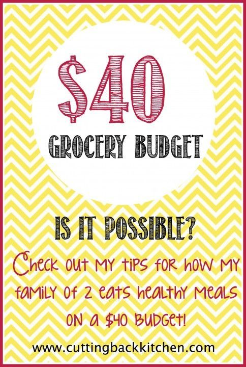 My $40 Grocery Budget - My tips for saving money at the grocery and how we eat for $40 each week!