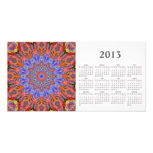 Kaleidoscope photocard with 2013 calendar
