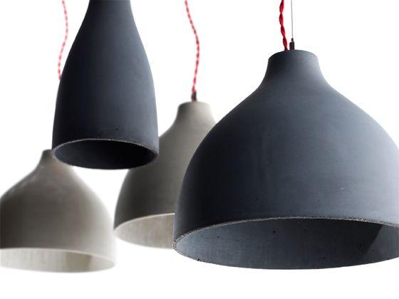 Hubert's 'Heavy' concrete pendant lights for Decode - A favorite!