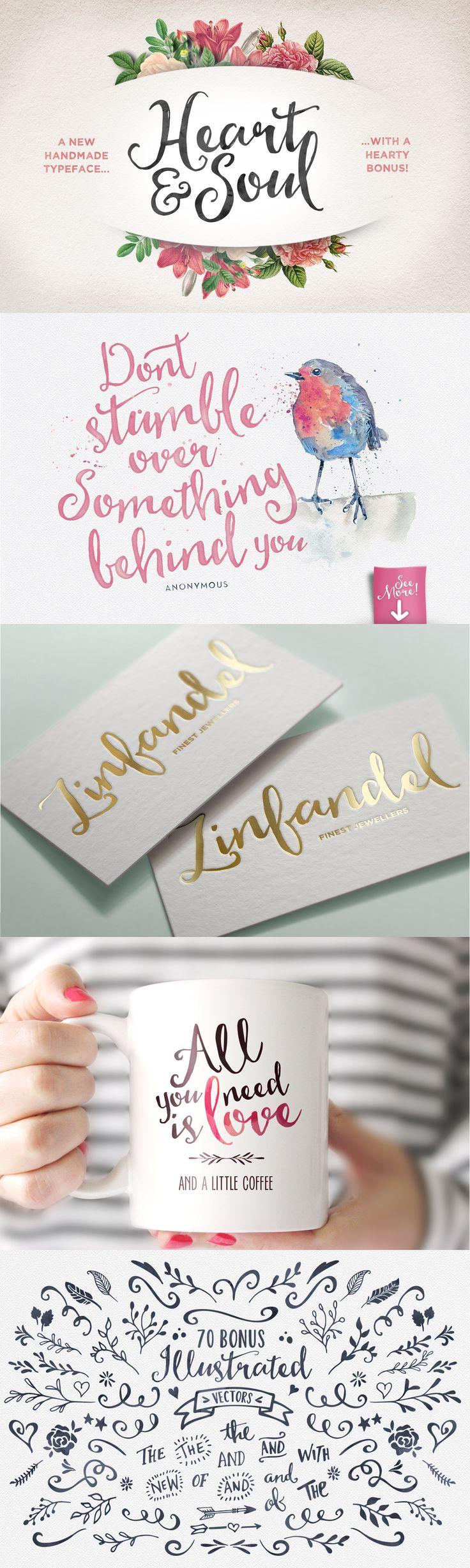 Heart & Soul Typeface by Nicky Laatz #designtools #font #lettering #type
