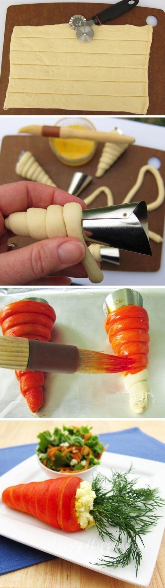 """Из чего можно сделать оригинально поделку """"съедобную морковку"""" на Пасху?"""