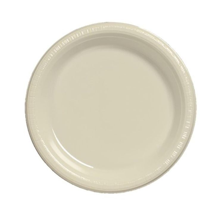 Club Pack of 240 Traditional Ivory White Disposable Plastic Party Banquet Dinner Plates 10