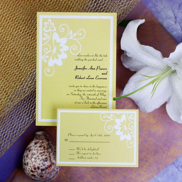 Unique Flower Pattern Wedding Invitations IWI216 31