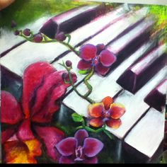 Piano and Orchids