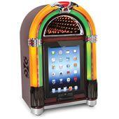 The iPad Tabletop Jukebox.: Classic Jukebox, Gadgets, Antiques Jukebox, Tabletop Jukebox, Phones Chargers, Hammacher Schlemmer, Slot,  One-Arm Bandit, Ipad Tabletop