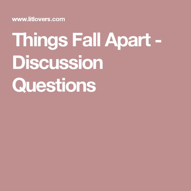 sophomore things fall apart ideas 1 Things fall apart (the african trilogy, #1) by chinua achebe (shelved 1 time as sophomore-english) avg rating 361 — 333,975 ratings — published 1958 want to read by sandy tolan (shelved 1 time as sophomore-english.