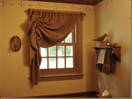 Curtains Powder Rooms And Primitives On Pinterest
