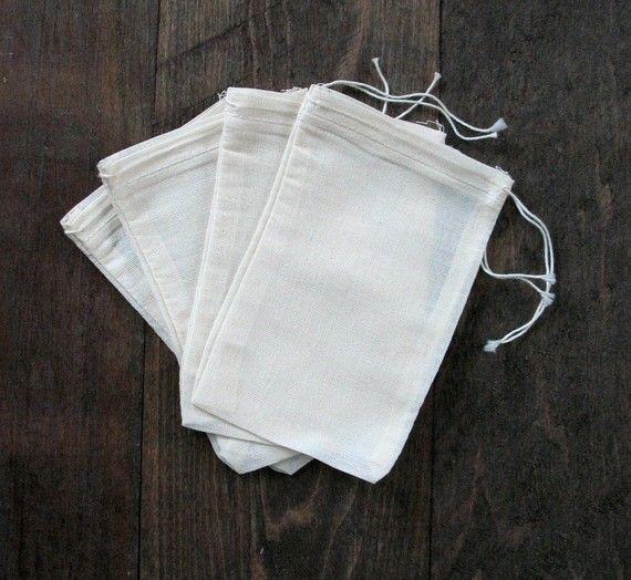 100 4x6 Cotton Muslin Drawstring Bags Bath Soap by CelestialGifts, $25.00