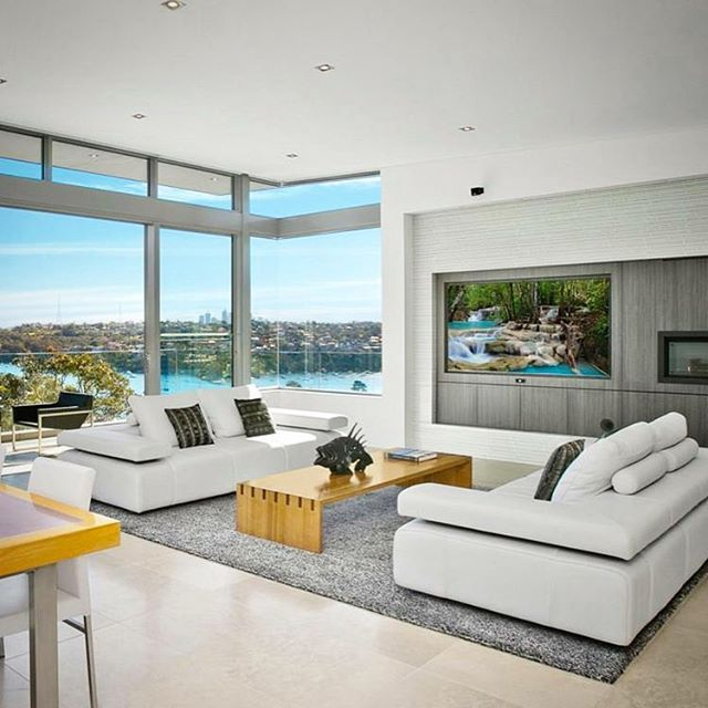 The perfect sofa for this breathtaking view. Our Strata sofas look stunning in this luxury Mosman penthouse. Thanks to Simeon Manners property.