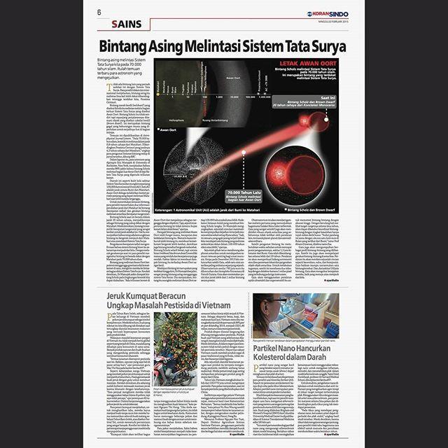 Bintang Asing Melintasi Sistem Tata Surya Letak Awan Oort Koran Sindo edisi Nasional, 22 Februari 2015 . . . . #newspaper #newspage #newspagedesign #newspagedesigner #societynewsdesign #snd #newsdesign #infographic #graphic ##design #graphicdesign #printdesign #koransindo #indonesia #infografis #grafis