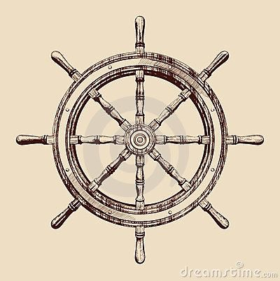 "Ship Wheel ""Be the one to guide me"""